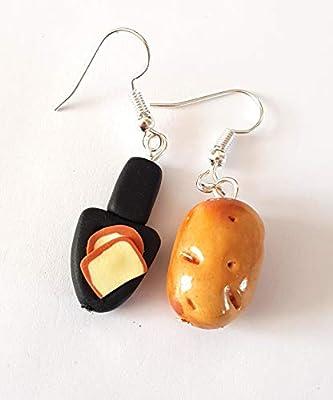 raclette boucles d'oreille rigolo jambon pdt fromage poelon depareillees idée cadeau