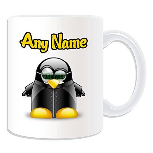 Personalisiertes Geschenk–Die Matrix Tasse (Pinguin Film Charakter Design Thema, weiß)–Jeder Name/Nachricht auf Ihre Einzigartiges–Kostüm Film Superheld Hero ()