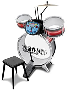 Bontempi JE5690 Rock Drummer Electronic Drum Set with Stool