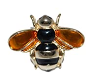 Cute Enamel Plated Bee Brooch Dainty Jewellery Can be Used as a Collar Pin (Supplied in a Gift Pouch) Unique Jewellery