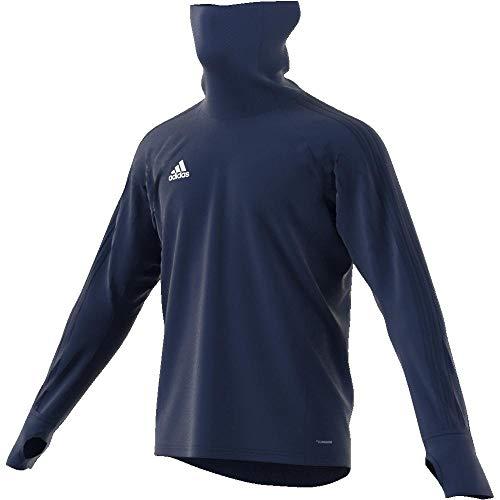 adidas Herren CON18 WRM Sweatshirt Dark Blue/White L