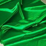 TOLKO Satin Meterware mit edlem Glanz ALS Mode- Gardinen- und Vorhang-Stoff in Smaragd Grün| Breite: 110 cm | Preiswert, Blickdicht und Pflegeleicht, Zum Nähen und Basteln