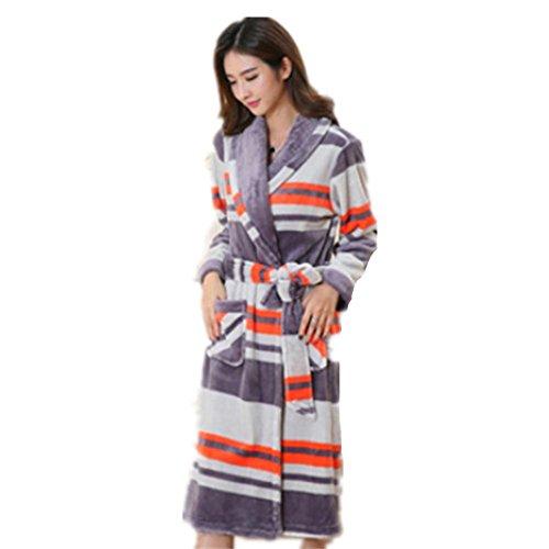 DMMSS Women 's camicia da notte lunga Flannel Pajamas autunno