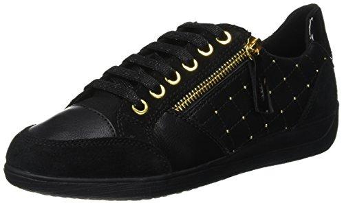 Geox Damen D Myria B Sneaker, Schwarz (Black C9999), 37 EU