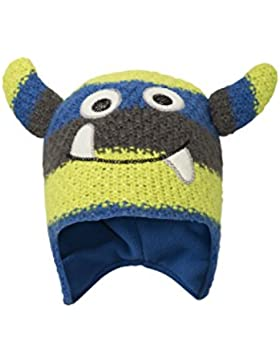 Mountain Warehouse Gorro a rayas Monster para niños Azul Talla única