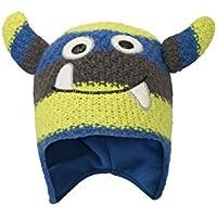 Mountain Warehouse Sombrero de Monster Stripe para niños - Cuidado fácil y Forro de vellón Mantener Felices a Sus pequeños pequeños Este Invierno Azul Talla única