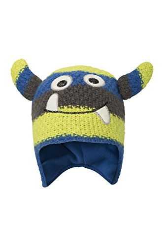 Mountain Warehouse Monster Stripe Kindermütze Blau