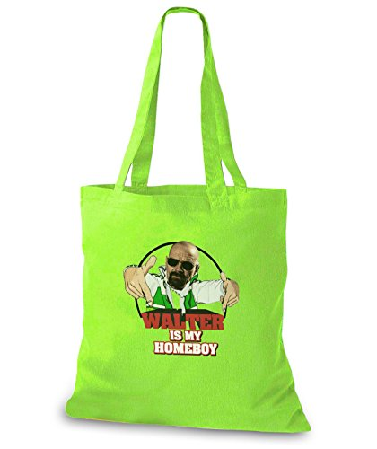 StyloBags Jutebeutel / Tasche Walter is my Homeboy Lime