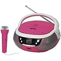 Daewoo 599371031 - radio cd portãtil con usb - rosa