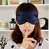 #10: EYE MASK / SLEEP MASK for sleeping 100% Mulberry SILK Super Soft Cute and Comfortable for Men and Women by United Lethargics (Navy Blue)