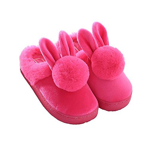 conejo-de-peluche-de-invierno-en-la-casa-pantuflas-de-peluche-para-las-mujeres-37-38-eu-rojo