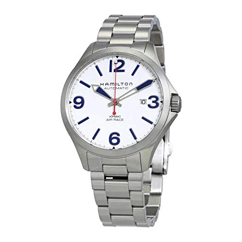 Hamilton h76525151Hombres del reloj plata edición especial de acero inoxidable de red bull color caqui aire Race