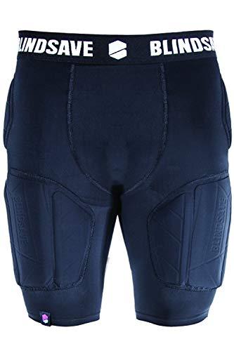 BLINDSAVE Unisex Kompressions-Shorts mit Polstern schwarz S (Pro-5-basketball-shorts)