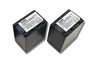 2 batteries 3300mAh pour caméscope Sony HDR-XR200, HDR-XR200VE, HDR-XR500, HDR-XR500VE, HDR-XR520, HDR-XR520VE