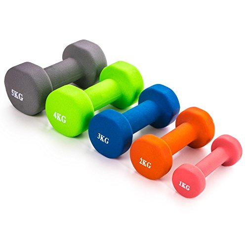 Neoprene-Dumbbell-Weights-Hand-Held-Pair-For-Exercise-Home-Gym-Fitness-1kg-2kg-3kg-4kg-5kg-Blue-2-x-3kg
