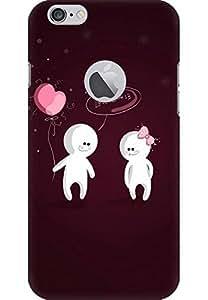 amez printed back case cover designer back cover hard case cover primium case cover for iphone 6 (with logo Hole) (Lovers)