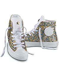 CONVERSE C.T. All Star Hi Canvas LTD glitter sneakers TESSUTO GOLD ORO  156904C a085d9e92f3