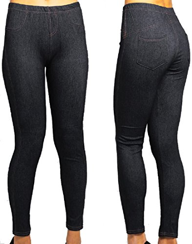 Red Olives Womens Ladies Stretchy Denim Look Skinny Jeggings Leggings Jeans Plus Size S-5XL