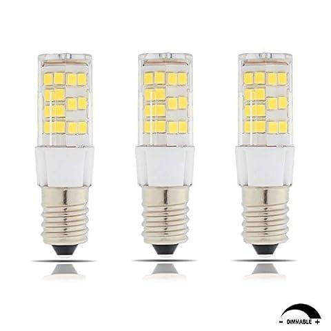 TAMAYKIM E14 Fassung 5W Dimmbar LED Lampe, 4500K Neutralweiß 550LM SMD 2835, 55W Entspricht Halogenlampen, AC 220V-240V, 360° Abstrahlwinkel, 3er-Pack