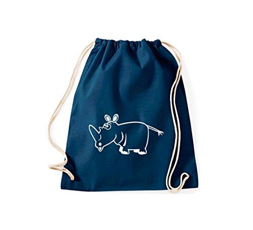 Shirtstown, Sac de gym Animaux Rhinocéros Bleu - Bleu
