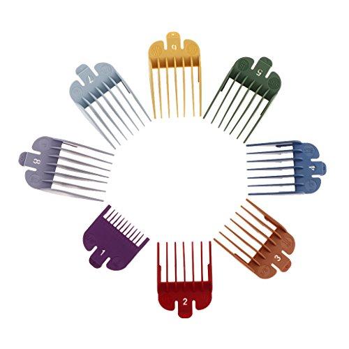 perfk Kit 8pcs Guide de Coupe à Tondeuse de Cheveux
