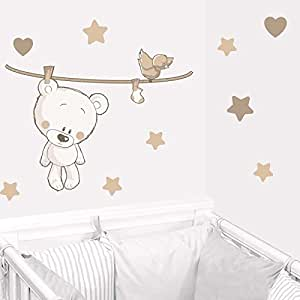 juju compagnie teddy der b r in beige teddyb ren wandstickers full set von kinder. Black Bedroom Furniture Sets. Home Design Ideas