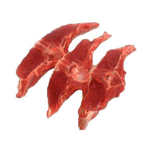 Lammkotelett, Lammruecken mit Knochen als Kotekett portioniert, 600 g