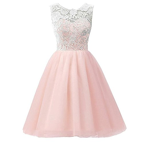 Hougood Mädchen Spitze Prinzessin Kleid Net Garn Spleißen Dressing Kostüme Geburtstag Hochzeit Kostüm Tanzkleid (Kleid Volle Rock-spitze-hochzeit)