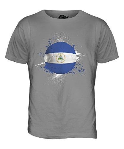 CandyMix Nicaragua Fußball Herren T Shirt Hellgrau