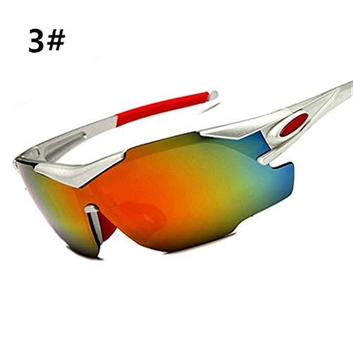 Männer Frauen Cycyling Sonnenbrille Rennrad Brille Mountainbike Fahrrad Outdoor Sports Eyewear Sonnenbrille Reitbrille (Color : 3)