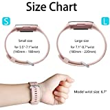 HUMENN Compatible for Fitbit Charge 3 Strap, Classic Bands Adjustable Replacement Wristbands for Fitbit Charge 3 Activity Tracker, Classic Small Sand Pink