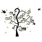 Cosanter Noir Cadre Photo Arbre Stickers Muraux Oiseaux Branche Cadre Photo Famille...