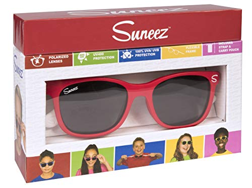Wicked Unisex-Kinder Ivica Sonnenbrille, Mehrfarbig (Red/White), 49