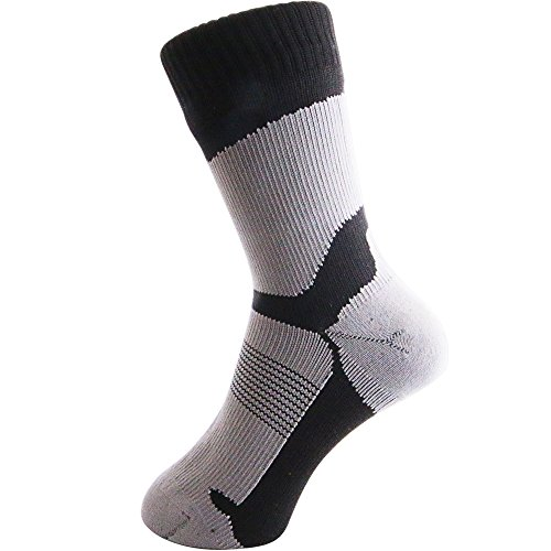 arcticdry xtreme 100% waterproof socks for men, women & children - nylon, spandex & coolmax waterproof material - perfect for cycling, hiking, rowing, fishing & more!