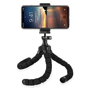 Rhodesy RT-01 Treppiede portatile Octopus Style con Supporto per iPhone, Qualsiasi Smartphone, Videocamera con Clip Universale
