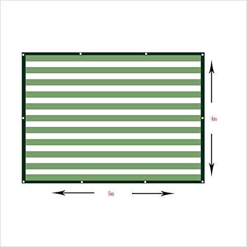 Rete di ombreggiatura nan tenda da sole rettangolare da 90% parasole - verde bianco a 6 poli in polietilene uv balcone terrazzo tenda da sole - disponibile su misura vele parasole (dimensioni : 5×4m)