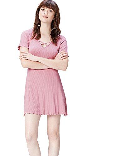 FIND Vestido con Escote Entrelazado para Mujer , Rosa (Old Rose), 40 (Talla del Fabricante: Medium)