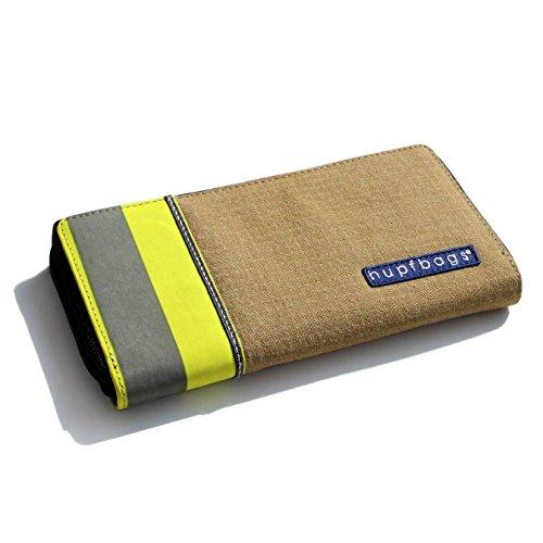 Feuerwehr Geldbörse / GOLD-D / Portemonnaie Geldtasche Portjuchhe Brieftasche Geldbeutel / 195 x 105 x 20 mm / Original hupfbags / aus gebrauchter Feuerwehrkleidung (Kleidung Feuerwehr)