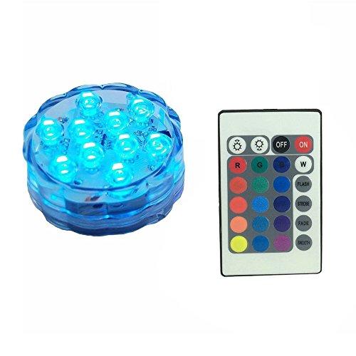 FRISTONE LED Licht/Lampe/Leuchte Unterwasser mit Fernbedienung,Multi Farbwechsel WasserdichteLeuchten für Vase Base, Floral, Aquarium, Teich, Hochzeit, Halloween, Party, Weihnachten