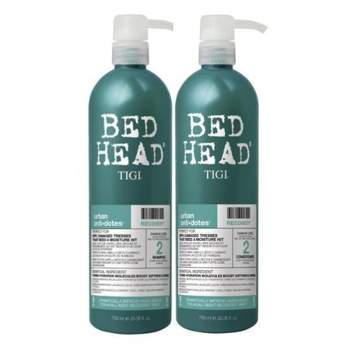 Urban antidoti by Tigi Bed Head Hair Care Recovery Tween Set - Shampoo 750 ml & Conditioner 750 ml 750 ml by Tigi Bed Head Hair Care (English Manual)