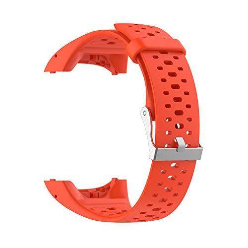 SYN Silikon-Ersatz-Armband - Schnellverschluss-Sport-Armband für Polar M400/M430 Laufuhren, orange -