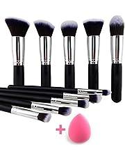 URBAN MAC 10 Pcs Makeup Brushes Set Tool Pro Foundation Eye