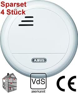 4er sparset abus optischer rauchmelder rm 10 vds incl batterie baumarkt. Black Bedroom Furniture Sets. Home Design Ideas