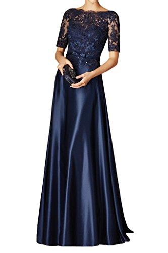 Milano Bride Damen Elegant Lang Spitze Langaermel Abendkleider Ballkleider Brautmutterkleider mit...
