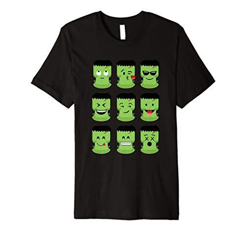 Grün Emoji-Halloween Gesichter -