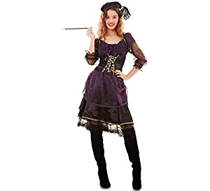 Fyasa 700054-t04Saloon Girl disfraz, morado, Large