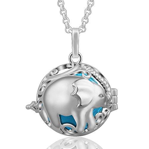 Eudora Harmony Ball Colgantes Lindo Elefante Mujer Llamador de Angeles Embarazada, Collar...