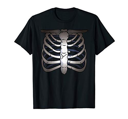 Ray Skelett Kostüm X - Skelett Halloween Skull Knochen Torso X-Ray Kostüm Totenkopf T-Shirt