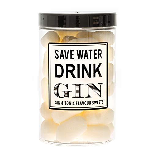 Preisvergleich Produktbild Extra hohes großes Glas mit Gin & Tonic aromatisierten Süßigkeiten,  Spar-Wasser drink-Gin,  ideales Geschenk,  klassische britische Sweetshop-Favoriten. 280g Nettogewicht.