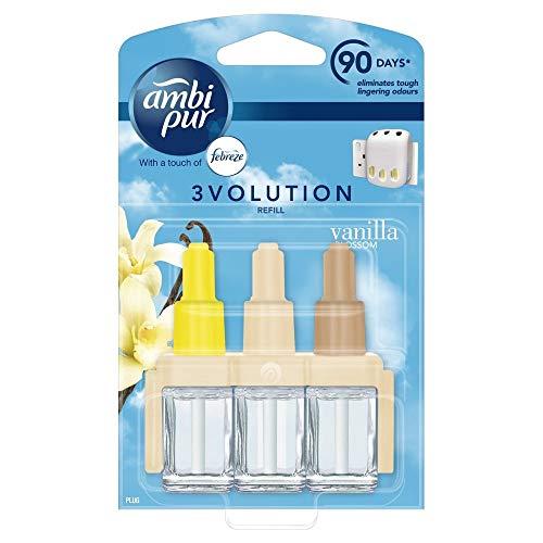 Pure Perfume Refill (Ambi Pur Automatischer Lufterfrischer 3 Volution Lavendel Plug-In Nachfüllpackung, 20 ml, Vanilla Blossom)